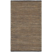 LR Resources Natural Fiber Black Area Rug; 8' x 10'