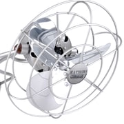 Matthews Fan Company Aluminum Fan Head with Cage; White