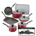 Farberware High Performance Nonstick 17-Piece Cookware Set; Red
