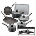 Farberware High Performance Nonstick 17 Piece Cookware Set; Black