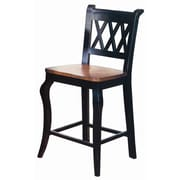 Sunset Trading Sunset Selections 24'' Bar Stool (Set of 2); Black/Cherry
