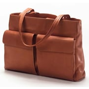 Clava Leather Vachetta Two Pocket Tote Bag; Tan