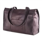 Clava Leather Colored Vachetta Shoe Tote Bag; Caf