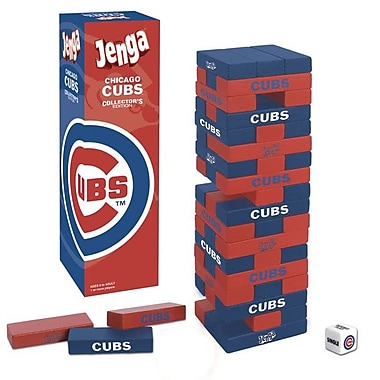 USAopoly MLB Collector's Edition Baseball Jenga Game; Chicago Cubs
