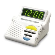 Sonic Alert Sonic Boom Alarm Clock with Plug Outlet for Lamp Built-In Receiver