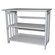Casual Home Bookcase 29'' TV Stand; White