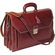 Floto Imports Venezia Attache Case Leather Briefcase; Brown