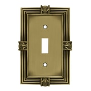 Franklin Brass Pineapple Single Switch Wall Plate; Tumbled Antique Brass