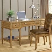 Hillsdale Gresham Writing Desk and Chair Set; Medium Oak