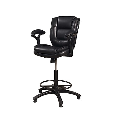Hillsdale Dawson 25'' Adjustable Swivel Bar Stool ; Black