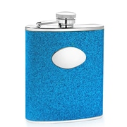 Wilouby 6 Oz. Glitter Flask; Blue