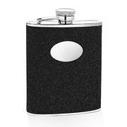 Wilouby 6 Oz. Glitter Flask; Black