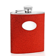 Wilouby 6 Oz. Glitter Flask; Red