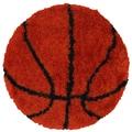 LR Resources Senses Shag Basketball Kids Rug