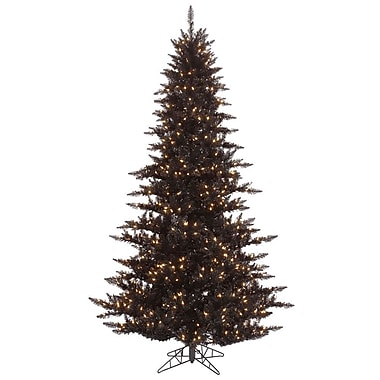Vickerman 5.5' Black Fir Artificial Christmas Tree w/ 400 Mini Clear Lights
