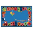 Kids Value Rugs Alphabet Fun Train Kids Rug; 6' x 9'