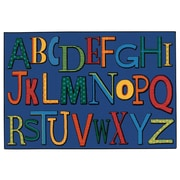Kids Value Rugs Playful Alphabet Kids Rug; 4' x 6'
