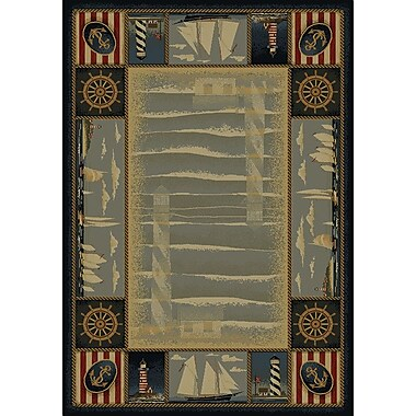 United Weavers of America Genesis Blue Yachtsmen Area Rug; 5'3'' x 7'6''