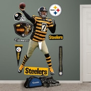 Fathead NFL Wall Decal; Pittsburgh Steelers - Roethlisberger