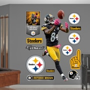 Fathead NFL Wall Decal; Pittsburgh Steelers - Brown