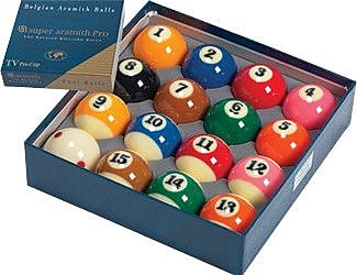 Aramith Billiard Balls - Super Aramith Pro TV WYF078275841422