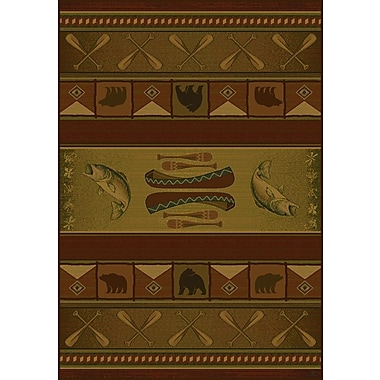 United Weavers of America Genesis Green Colorado Lodge Area Rug; Runner 1'11'' x 7'4''