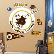 Fathead MLB Wall Decal; San Diego Padres - Throwback