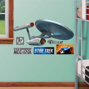 Fathead Star Trek USS Enterprise NCC-1701 Wall Decal; 18'' H x 42'' W
