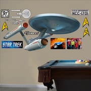 Fathead Star Trek USS Enterprise NCC-1701 Wall Decal; 37'' H x 86'' W