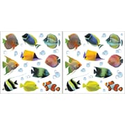 Brewster Home Fashions Home Decor Fish Wall Decal Set