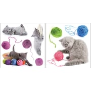 Brewster Home Fashions Euro Playful Cats Wall Decal