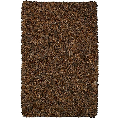 St. Croix Pelle Leather Brown Area Rug; 8' x 10'