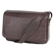 Clava Leather Quinley Leather Messenger Bag; Brown