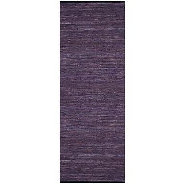 St. Croix Matador Leather Chindi Purple Rug; 5' x 8'