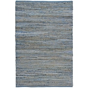 St. Croix Earth First Blue Jeans Handcrafted Area Rug; Runner 2'6'' x 12'