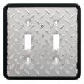 Brainerd Diamond Plate Double Switch Wall Plate