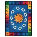 Carpets for Kids Literacy Sunny Day Learn and Play Kids Rug; 4'5'' x 5'10''
