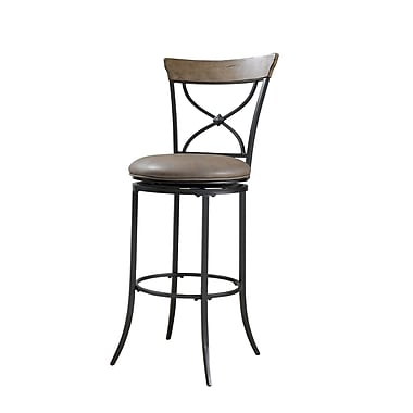 Hillsdale Charleston 26'' Swivel Bar Stool with Cushion