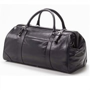 Clava Leather Tuscan Doctor's 20'' Leather Duffel; Black