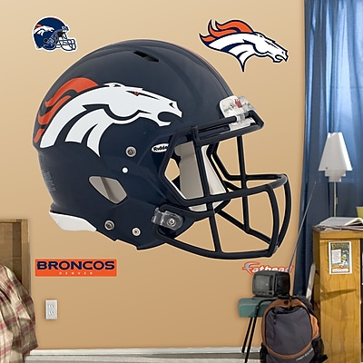 Fathead NFL Revolution Helmet Wall Decal; Denver Broncos WYF078276137309