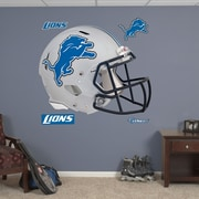 Fathead NFL Revolution Helmet Wall Decal; Detroit Lions