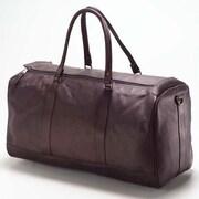 Clava Leather Vachetta Barrel 23'' Leather Carry-On Duffel; Caf