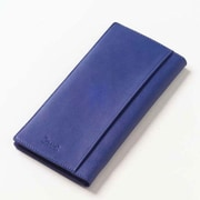Clava Leather Colored Leather Travel Wallet; Blue