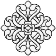 Brewster Home Fashions Medici Medallion Stained Glass Appliqu  Window Sticker; Clear