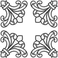 Brewster Home Fashions Medici Corners Stained Glass Appliqu  Window Sticker; Clear