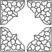 Brewster Home Fashions Pansy Corners Stained Glass Appliqu  Window Sticker; Clear