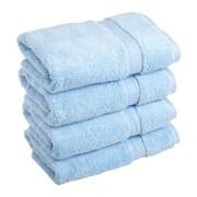 Simple Luxury Superior Egyptian Cotton Hand Towel (Set of 4); Light Blue