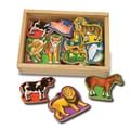 Melissa and Doug 20-Piece Magnetic Animals Set
