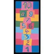 Learning Carpets Hip Hop Hopscotch Kids Rug; 3' x 6'8''