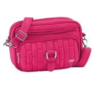 Lug Carousel Mini Cross Body Bag; Rose Pink
